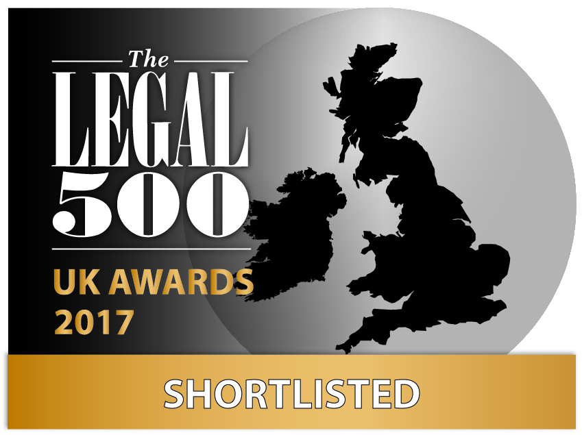 Match Solicitors shortlisted for the Legal 500 Awards 2017
