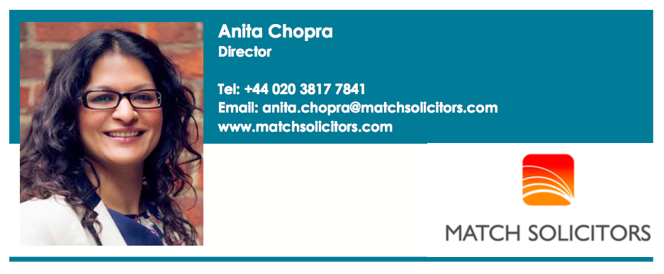 Match's Anita Chopra speaks to Lawyer Monthly