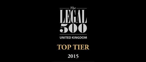 Top tier law firm in The Legal 500 rankings for another year